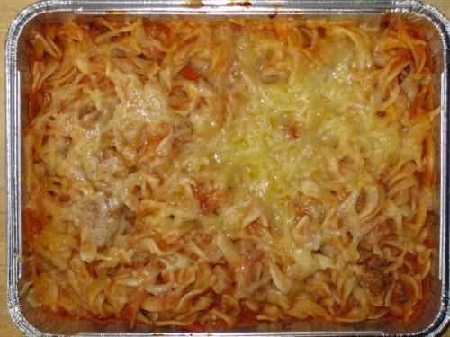 """Pasta """"Asquita"""" mit Käse und Rohkost"""