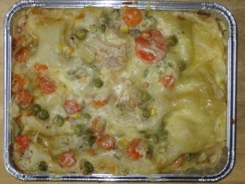 Gemüselasagne mit Creme fraiche, Dessert