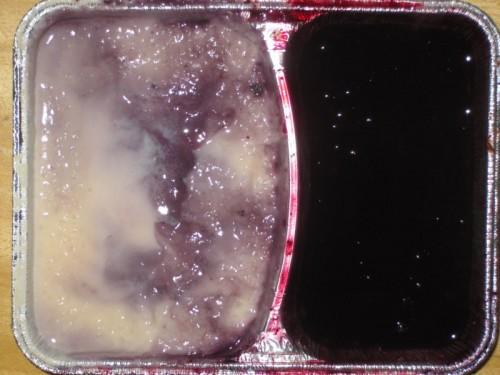 Milchreis mit Heidelbeersoße, Obst