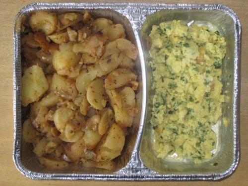 Schnittlauchrührei mit Bratkartoffeln, Rote Bete