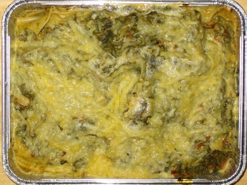 """Lasagne """"Florentin"""" mit Spinat, Tomaten und Käse überbacken"""